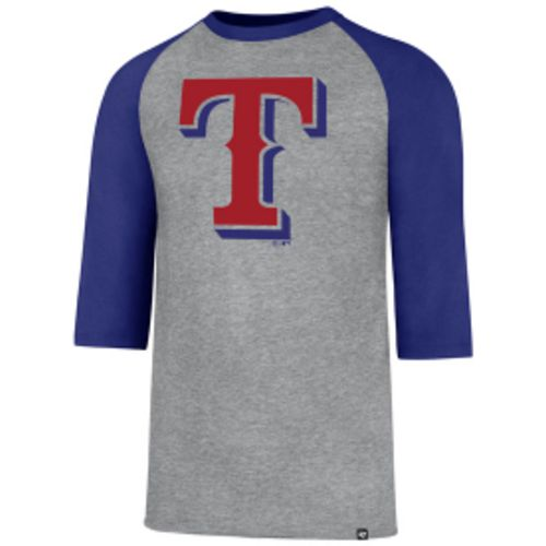 '47 Men's Texas Rangers Club Raglan 3/4 Sleeve T-Shirt