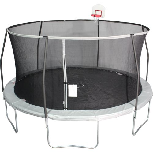 Jump Zone 15 ft Round Trampoline with DunkZone Basketball Hoop