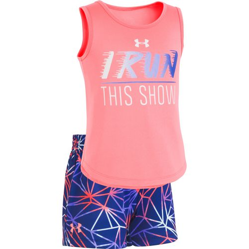 Under Armour Toddler Girls' I Run This Show Tank Top and Shorts Set