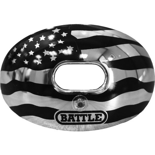 Battle Adults' Oxygen Chrome American Flag Mouth Guard