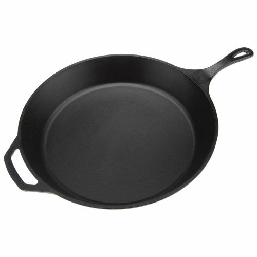 "Display product reviews for Lodge 15"" Preseasoned Cast-Iron Skillet"