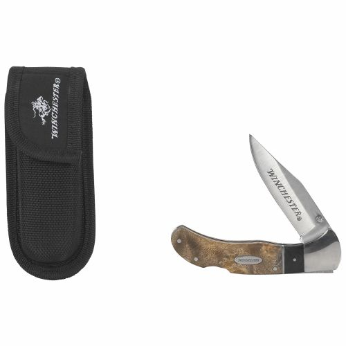Image for Winchester Burl Wood Folding Knife from Academy