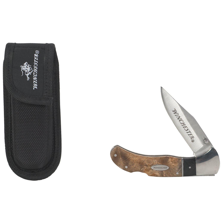Winchester Burl Wood Folding Knife