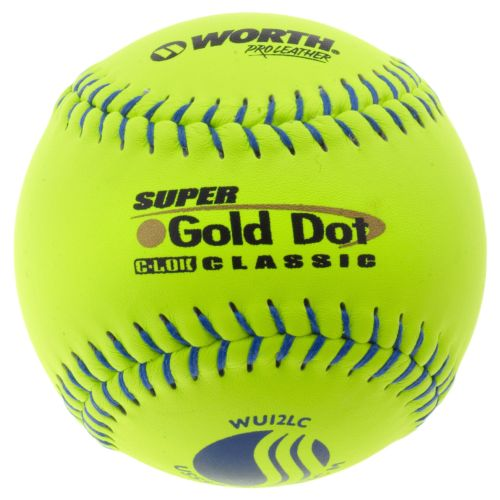 "Worth USSSA 12"" Super Gold Dot Slow-Pitch Softball"