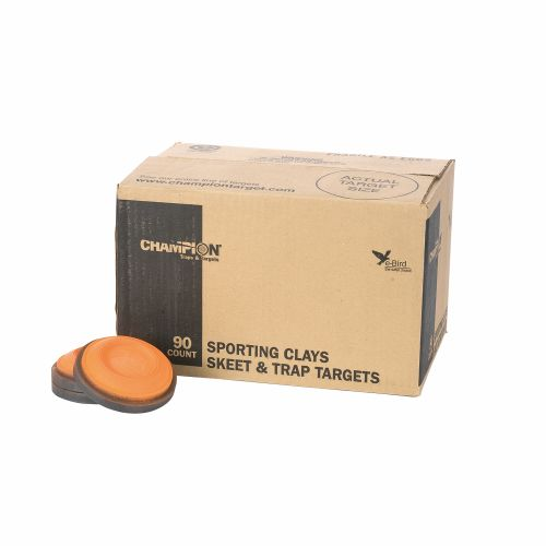 Champion Orange Dome Standard Clay Targets 90-Pack