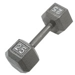 CAP Barbell 25 lb. Solid Hex Dumbbells