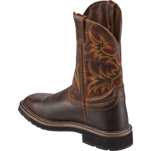 Justin Men's Stampede Square Toe Work Boots - view number 3