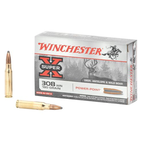 Winchester Super-X 308 Caliber 180-Grain Power-Point Ammunition - view number 1