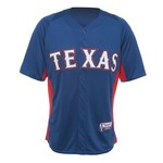 Majestic Adults' Texas Rangers Cool Base™ Batting Practice Jersey