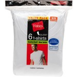 Hanes Men's Red Label Crew Undershirts 6-Pack