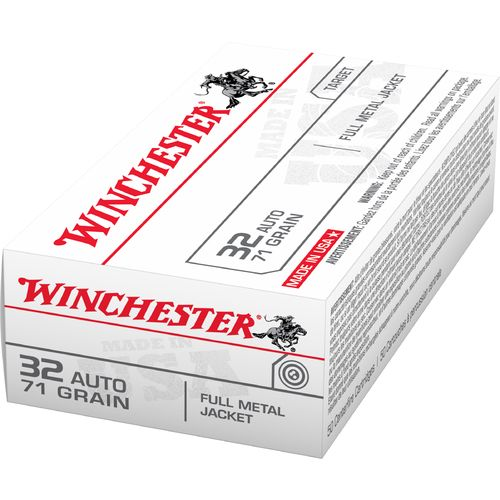 Winchester USA Full Metal Jacket .32 Automatic 71-Grain Handgun Ammunition - view number 1