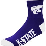 For Bare Feet Men's Kansas State University Team Color Quarter Socks