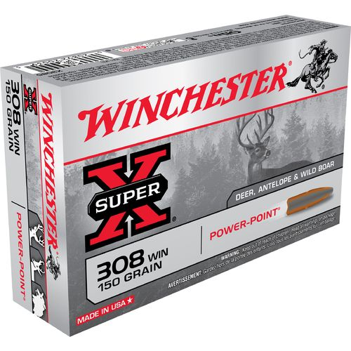 Winchester Power-Point .308 Winchester 150-Grain Centerfire Rifle Ammunition