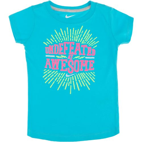 Nike Toddler Girls' Undefeated in Awesome Short Sleeve T-shirt