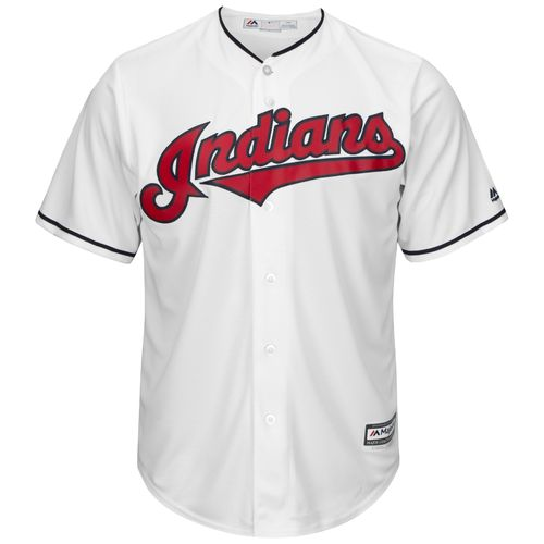 Majestic Men's Cleveland Indians Corey Kluber #28 Cool Base® Home Jersey - view number 2