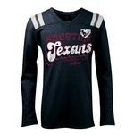 5th & Ocean Clothing Girls' Houston Texans Baby Jersey Long Sleeve T-shirt