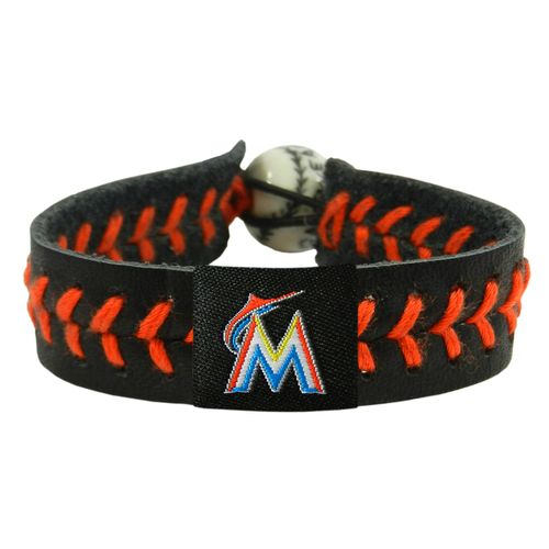 GameWear Miami Marlins Team Color Baseball Bracelet