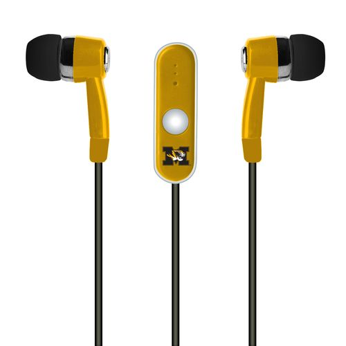 Mizco University of Missouri Stereo Hands-Free Earbuds