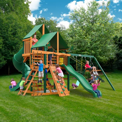 Gorilla Playsets™ Great Skye I Swing Set with Timber Shield™ and Deluxe Vinyl Canopy - view number 2