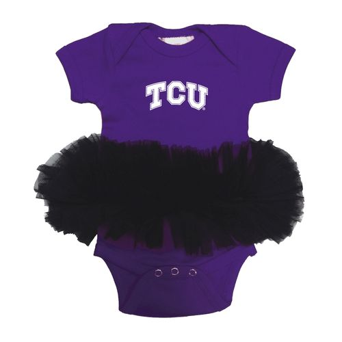 Two Feet Ahead Infants' Texas Christian University Tutu Creeper