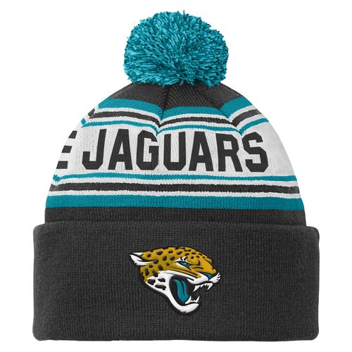 NFL Kids' Jacksonville Jaguars Cuffed Knit Cap with Pom