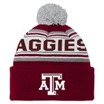 adidas Toddlers' Texas A&M University Cuffed Knit Cap with Pom