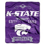The Northwest Company Kansas State University Label Raschel Throw - view number 1