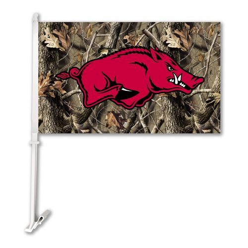 BSI University of Arkansas Realtree 2-Sided Car Flag