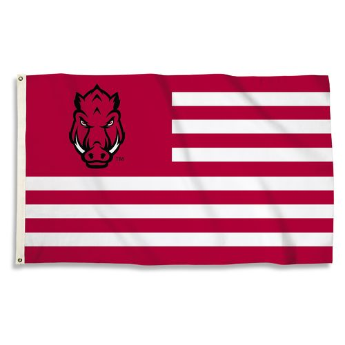 BSI University of Arkansas USA Motif Flag