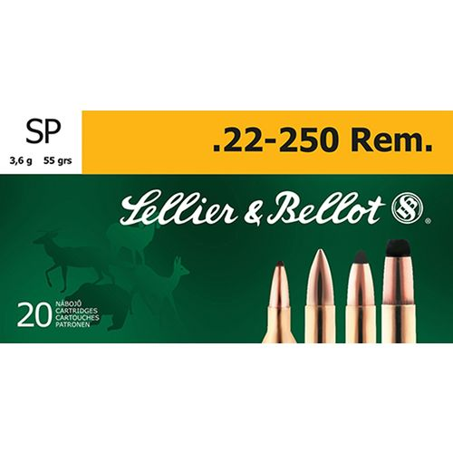Sellier & Bellot .22 - 250 Remington 55-Grain Soft Point Centerfire Rifle Ammunition - view number 1