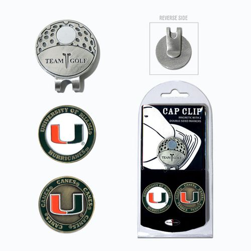 Team Golf University of Miami Marker Cap Clip