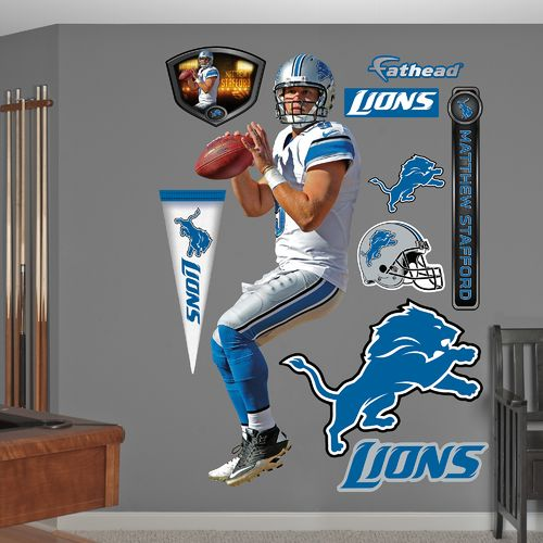 Fathead Detroit Lions Matthew Stafford Away Real Big Wall Decal