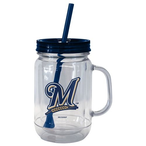 Boelter Brands Milwaukee Brewers 20 oz. Handled Straw Tumblers 2-Pack
