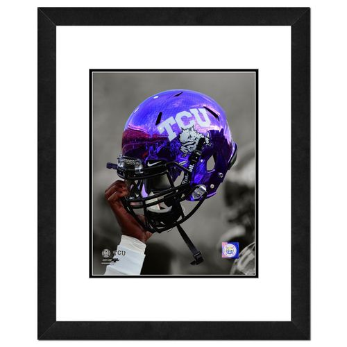 "Photo File Texas Christian University Helmet 16"" x 20"" Matted and Framed Photo"