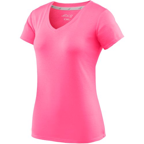 BCG Women's Territory Solid Short Sleeve V-neck T-shirt