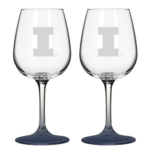Boelter Brands University of Illinois 12 oz. Wine Glasses 2-Pack