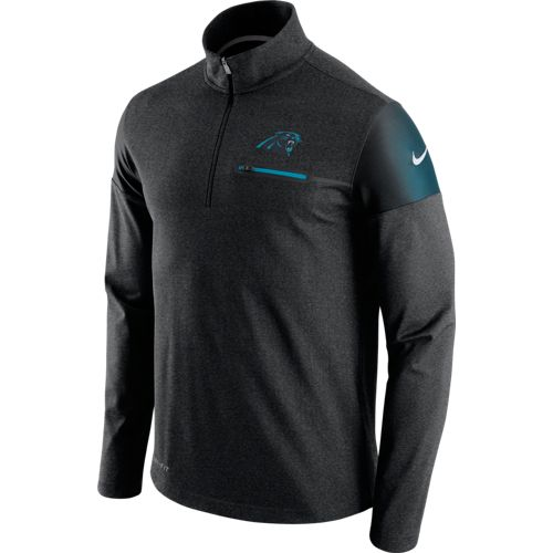 Nike Men's Carolina Panthers Elite Coaches 1/2 Zip Top