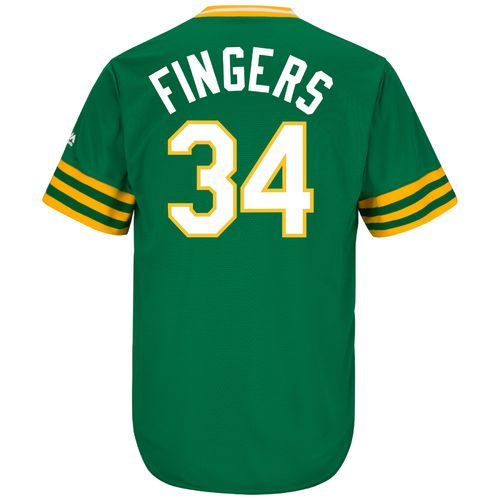 Majestic Men's Oakland Athletics Rollie Fingers #34 Cooperstown Cool Base 1987 Replica Jersey - view number 1
