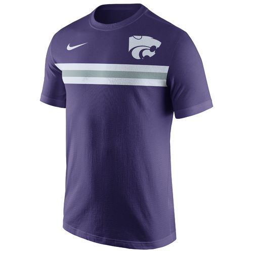 Nike Men's Kansas State University Cotton Team Stripe T-shirt