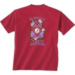 New World Graphics Women's University of Alabama Bright Plaid T-shirt