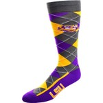 FBF Originals Men's Louisiana State University Argyle Zoom Dress Socks