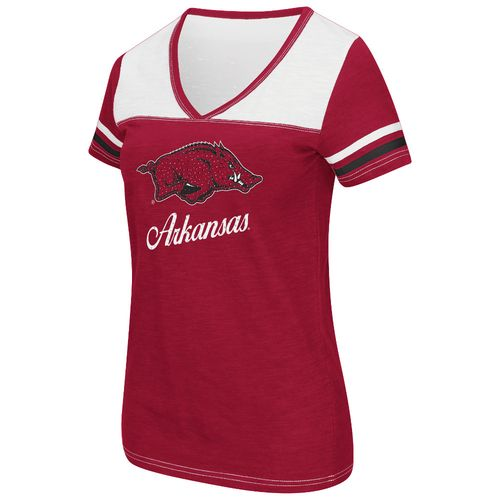 Colosseum Athletics™ Women's University of Arkansas Rhinestone Short Sleeve T-shirt