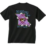 New World Graphics Women's University of Missouri State Bright Plaid T-shirt