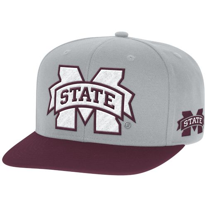 adidas™ Men's Mississippi State University 2-Tone Flat Brim