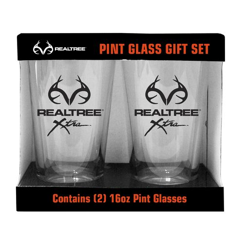 Boelter Brands Realtree Repeat Slogan 16 oz. Pint Glasses 2-Pack