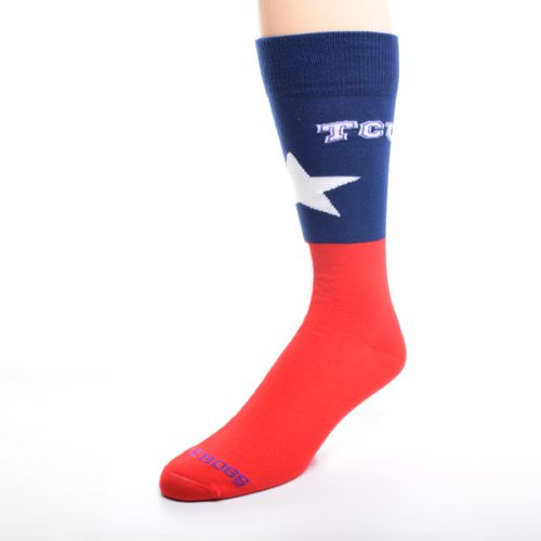 FBF Originals Adults' Texas Christian University Argyle Socks