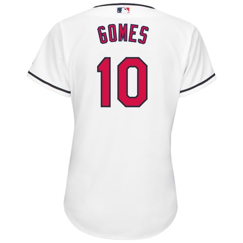 Majestic Women's Cleveland Indians Yan Gomes #10 Authentic Cool Base Home Jersey