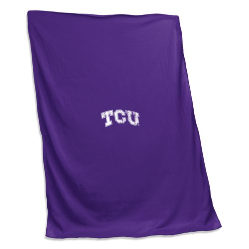 Logo™ Texas Christian University Sweatshirt Blanket
