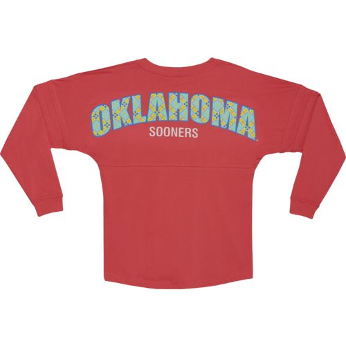 Boxercraft Women's University of Oklahoma Coral Pom Pom Jersey