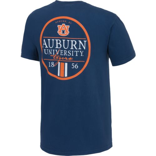 Image One Men's Auburn University Simple Circle Lines T-shirt
